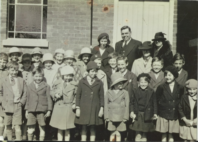 Sunday School, First Sunday in the extension to Chapel, 1936